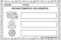 Fichas para dictados: Los juguetes