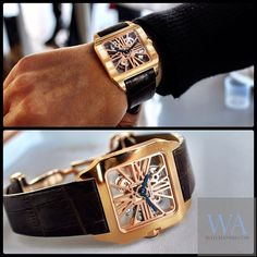 The stunning Cartier Santos-Dumont Skeleton* ...Now go forth and share that BOW & DIAMOND style ppl