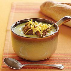 Broccoli-Cheese Soup Recipe - 0   MyRecipes Mobile