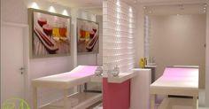 Sala de estética com cromoterapia