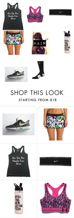 """""""Day 4: Track"""" by kbaker-2 ❤ liked on Polyvore featuring beauty, Trina Turk, NIKE and Under Armour"""