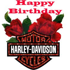 Happy Birthday Harley Davidson Roses
