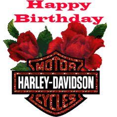 Happy Birthday Harley Davidson Roses