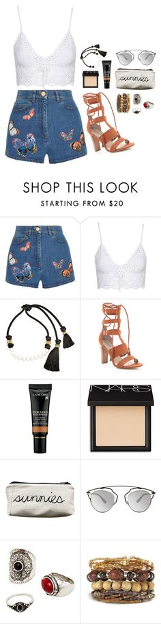 """Untitled #1119"" by hi-its-shannon ❤ liked on Polyvore featuring Valentino, Topshop, Lanvin, Bebe, Lancôme, NARS Cosmetics, Christian Dior and MANGO"