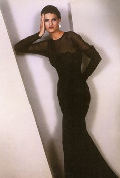 "From the book ""Form and Fashion"" by Sheila Metzner Model: Linda Evangelista"