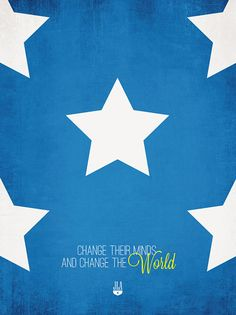 Justice League of America Minimalist Prints - Change Their Minds And Change The World - Wonder Woman