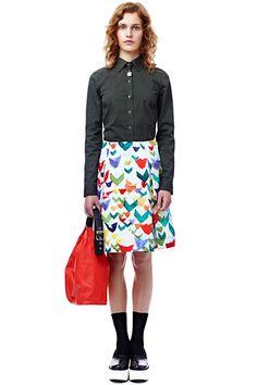 Jil Sander Navy, Spring 2012 #jilsandernavy #spring2012 #skirt #pattern #green