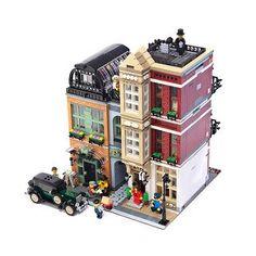 LEGO Modular Bootblack Street Lego Duplo, Lego Creator, Lego City, Minecraft City, Village Lego, Legos, Lego Ville, Chateau Lego, Casa Lego