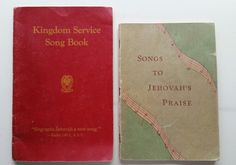 Songbooks of Jehovah's Witnesses.... These were my grandparents copies.....the red one was copyright 1944, but is '48 edition, the green is copyright 1950, but this one is from 1962..... put up for Madena...with love sister!