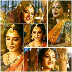 Anushka Bollywood Makeup, Bollywood Fashion, Anushka Shetty Saree, Prabhas And Anushka, Tashan E Ishq, Prabhas Actor, Half Saree Lehenga, Cute Kids Photography, Indian Star