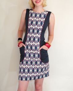 Rooster Pocket Dress by Mata Traders/nancysgonegreen.com