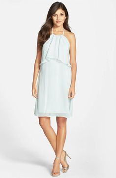 Main Image - nouvelle AMSALE 'Suki' Chiffon Halter Dress