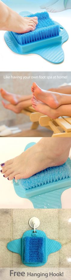 Bath Brushes and Sponges: Bath Blossom Foot Scrub Brush Exfoliating Feet Scrubber Washer Spa For Shower -> BUY IT NOW ONLY: $38.36 on eBay!