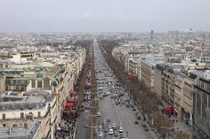 The view from the Arc De Triomphe - Paris, France - February 2014