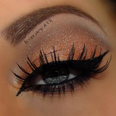 Arabian Gold by Janine F. Click the pic to see the how-to. #beauty #makeup #bestofbeauty