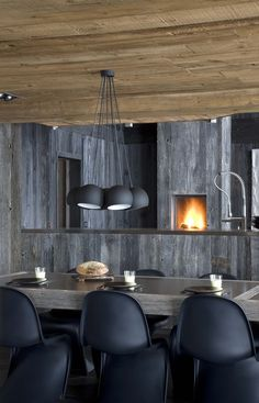Dining Room Interior In The French Alps
