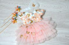 Butterfly #pinky Girls Dresses, Flower Girl Dresses, Tulle, Butterfly, Wedding Dresses, Flowers, Design, Fashion, Dresses Of Girls