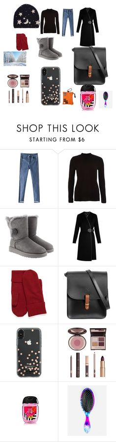 """""""winter night"""" by rebzollner on Polyvore featuring River Island, UGG, N'Damus, Kate Spade, Charlotte Tilbury and The Wet Brush"""