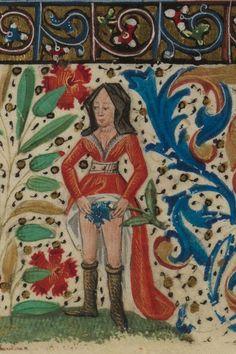 Paris, Bibliothèque de l'Ecole des Beaux-Arts, Ms. 0482, detail of f.60v. Book of Hours. 15th century