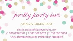 Stylish Confetti Pink and Gold Dots Pretty Party Planner Business Cards http://www.zazzle.com/business_card_stylish_confetti_pink_gold-240280619764408582?rf=238835258815790439&tc=GBCEvents1Pin
