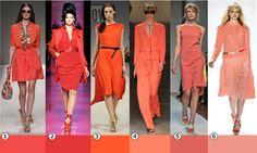Оттенки модного цвета 2012