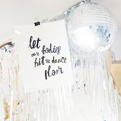 Lettering. Party decor. Typography. Print design. Graphic design. Disco. Discoball