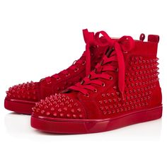 louis vuitton sneakers for men high top. louis spikes men\u0027s flat white/white leather - men shoes christian louboutin vuitton sneakers for high top 1