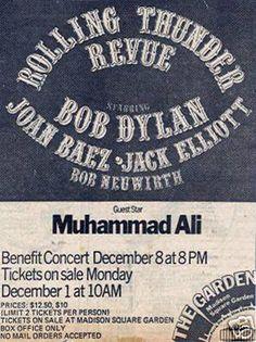 12 08 1975   - Bob Dylan Concert Poster - Rolling Thunder Reveue