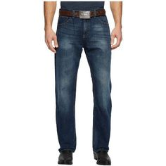 Wrangler 20X Jeans Extreme Relax Fit Vintage Bootcut (Parker) Men's... ($57) ❤ liked on Polyvore featuring men's fashion, men's clothing, men's jeans, mens bootcut jeans, mens jeans, mens vintage jeans, mens slim fit bootcut jeans and mens patched jeans #mensjeansrelaxed #mensjeansfit