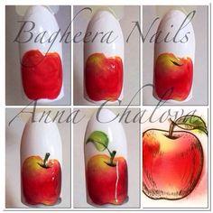 Food Nail Art, Fruit Nail Art, Gel Nail Art, Diy Nails, Cute Nails, Pretty Nails, Crazy Nail Art, Crazy Nails, Fruit Nail Designs