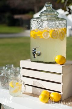 Glass drink dispenser with tap