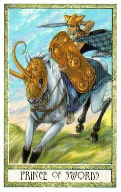 Prince (Knight) of Swords, DruidCraft Tarot
