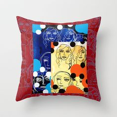 Body of Proof Patterned Throw Pillow by Amy Chace - $20.00