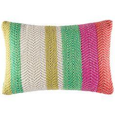 Buy Kas Harris Stripe Cotton Knit Cushion Online at johnlewis.com