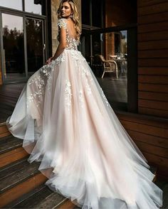 98623b5f52ee1 Wedding Dresses by Florence Wedding 2019 Despacito 1806 Amor white wedding  dress with floral top bodice and long tule bottom ballgown style
