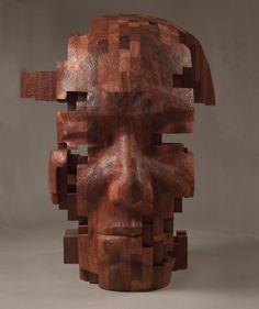 contemporary wood sculptures taiwanese artist
