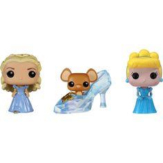 Funko - Cinderella Pop! Disney Vinyl Collectors Set: Cinderella, Glass Slipper w/Gus Gus, the Classic Cinderella - Multi