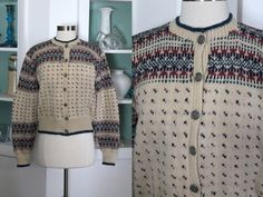 1950s Norwegian Sweater / Vintage 50s 60s by SavvySpinsterVintage
