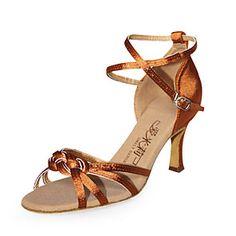 satinado superior zapatos de tacón alto de América Latina zapatos de baile de salón para las mujeres más colores