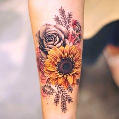 Check out our gallery to get Best Sunflower Tattoo Designs. tattoos Best Sunflower Tattoo Designs In 2020 Body Art Tattoos, New Tattoos, Tatoos, Wrist Tattoos, Tattoo Ink, Tattoo Drawings, Realism Tattoo, Future Tattoos, Wrist Coverup Tattoos