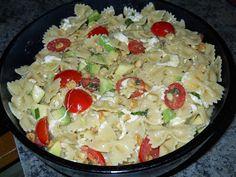 Lemon Pasta Salad - luscious lemony farfelle pasta salad brimming with avocados, cherry tomatoes, fresh mozzarella, spicy basil and a fresh lemon vinagrette