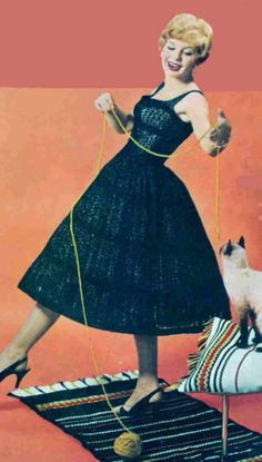 1958 Cocktail Dress and Jacket Knitting pattern by etsy's PamoolahVintage, $4.50 would make a swell wedding dress if one were ever in the market for such a garment. Maybe just knit the top or jacket & a fabric skirt for less commitment.