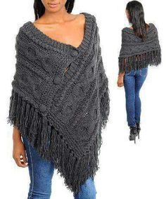 Fashion Square Fringe Knitted Stylish Sweater Poncho(T.Risultati immagini per styling a knit rectangular shawlCapes, Ponchos, Shawls and Wraps for WomenThis Pin was discovered by LorStylish Knitted Sweaters to Make Your Winter Warm Poncho Shawl, Poncho Sweater, Knitted Poncho, Knitted Shawls, Poncho Knitting Patterns, Knit Patterns, Knit Or Crochet, Crochet Shawl, Hippie Crochet