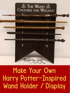 Want a way to display your magical goodies from the Harry Potter Theme park or your own homemade wands? This Harry Potter inspired, super-easy, wand holder / display takes a day, less than $25 and lets you display your magic proudly!