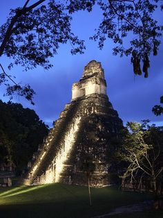 pyramid  -  Tikal, Guatemala  -  built between 400-300 BC   -  Pre-Columbian Mayan  -  200-900 AD the Maya built one of its most powerful kingdoms out of a conquest state here  -  abandoned at the end of the 10th century (900s) AD  -  area inhabited at least by 1000 BC  -  UNESCO World Heritage Site