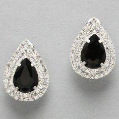 "Designer Inspired Black and Silver Rhinestone Teardrop Clip on Earrings. Size : 1"" W, 1 1/2"" L. Hail Mary Gifts,http://www.amazon.com/dp/B00DSRYSTG/ref=cm_sw_r_pi_dp_cqYusb10VYZQGV2F"