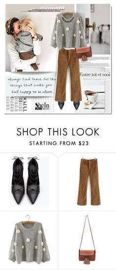 """Feel happy with Shein.com"" by hamaly ❤ liked on Polyvore featuring Zara, Sweater, ootd, Sheinside, pants and fallstyle"