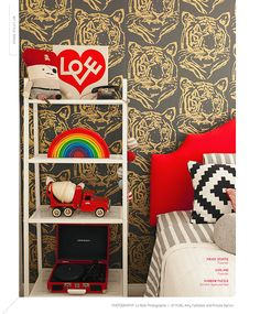 Super bold and modern boy's room. via @Babiekins Magazine