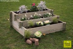For your garden! Raised Garden Beds, Raised Beds, Eco Deco, Diy Pallet Furniture, Plantar, Flower Boxes, Diy Flowers, Garden Planters, Permaculture
