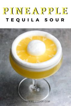 This Pineapple Tequila Sour Is a Vacation in a Glass: It'll bring sunshine to any climate.